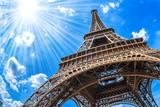 Fototapeta Eiffel Tower - Eiffelturm - Weitwinkel Aufnahme
