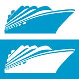 Cruise ship icon. Vector illustration.