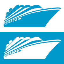 Cruise Ship Icon. Vector Illus...