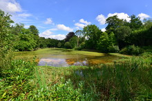 A Lake At A Country Estate In ...