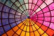 canvas print picture - Bright vibrant colored roof interior