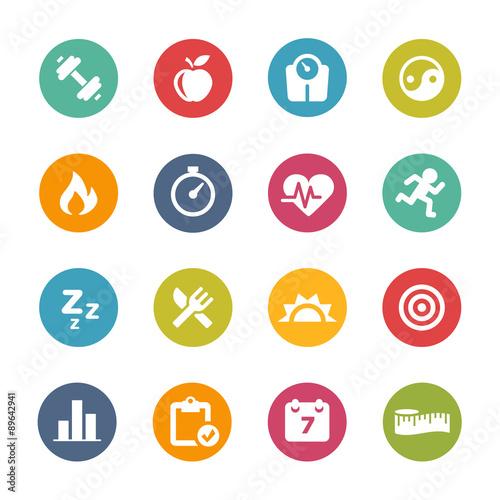 Obraz Fitness Icons, Circle Series - fototapety do salonu