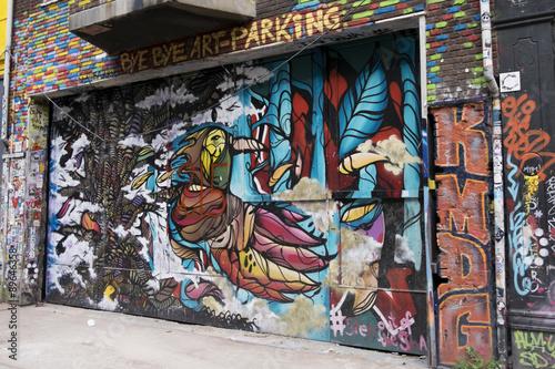 Spoed Foto op Canvas Graffiti collage Graffiti in old Amsterdam