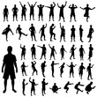 Pose silhouette set