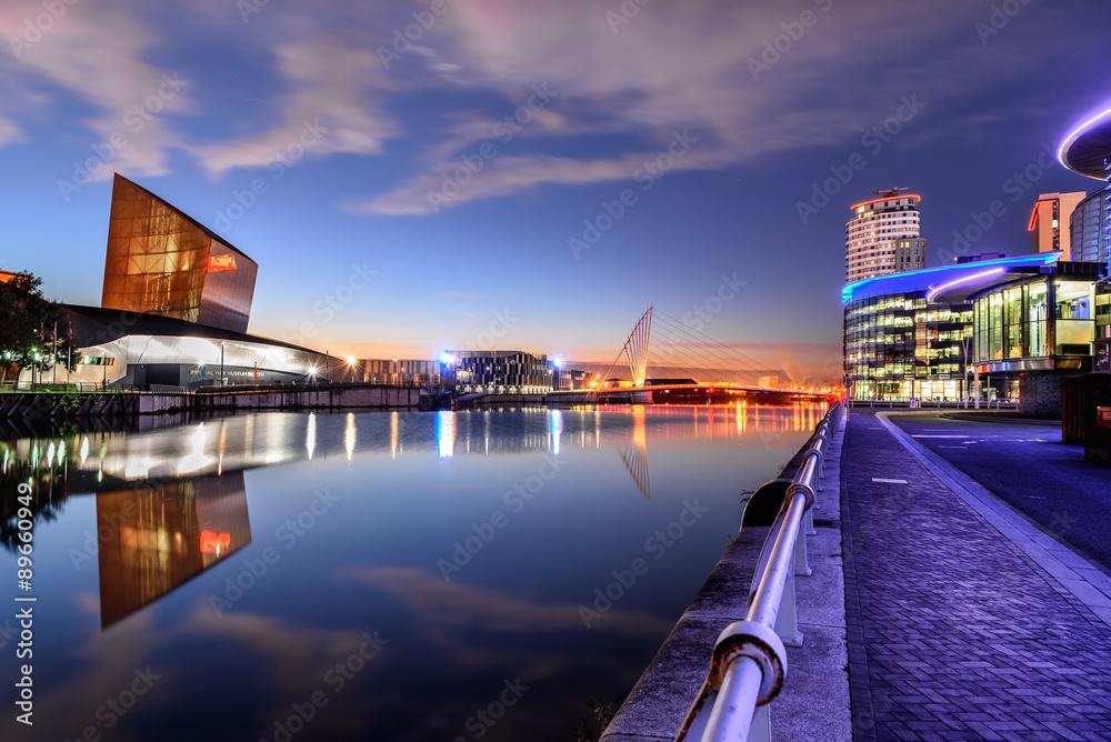 Fototapety, obrazy: Salford Quays, Manchester, UK