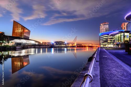 Obraz na plátně Salford Quays, Manchester, Velká Británie