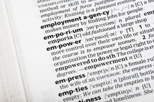 Empower In Dictionary Closeup Photo