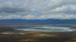 Serengeti Ngorongoro crater static camera aerial view. Africa. Tanzania. Travel tourism adventure in wild animal nature.