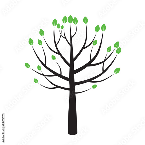 Spring Color Tree. Vector Illustration. – kaufen Sie diese ...