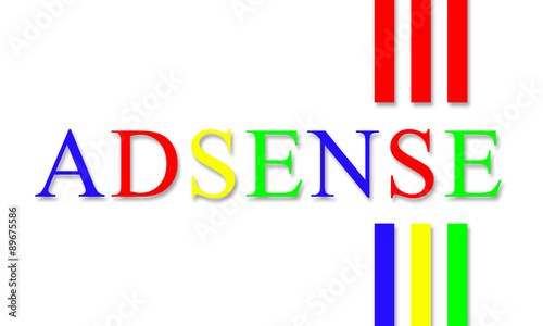 adsense word with lines design - suitable for your application_project_web_ banner_ advertising_etc