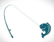 Vector Images Of Fishing Rod A...