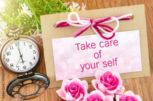 Fotografía  Take care of your self.