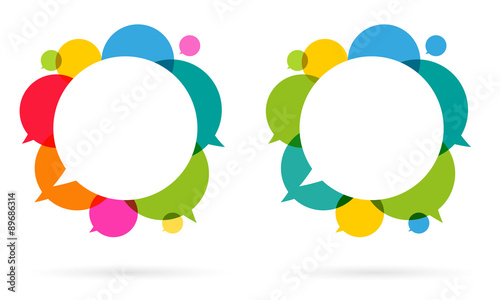 Bulles / Speech bubbles Fototapet
