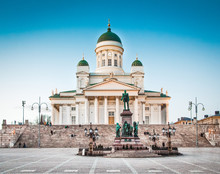 Helsinki Cathedral In Evening ...