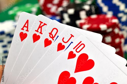 Plakat Poker królewski
