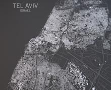 Tel Aviv, Vista Satellitare, S...