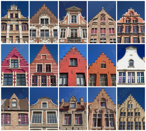 Poster Brugge Houses of Bruges