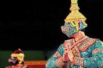 "Thailand Culture Dancing art in masked ""Khon"""