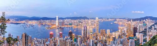 Fotografía Hong Kong skyline at night