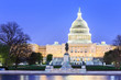canvas print picture - The United States Capitol building in Washington DC