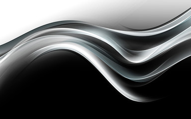 Abstract Gray Waves Art Background