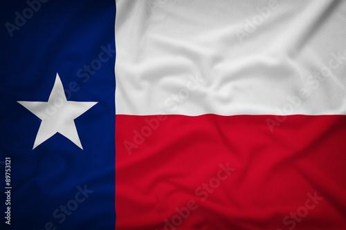 Foto op Plexiglas Texas Texas flag on the fabric texture background,Vintage style