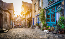 Old Town In Europe At Sunset W...