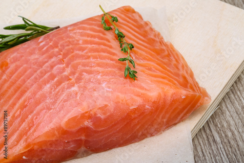 Poster Fish Salted salmon