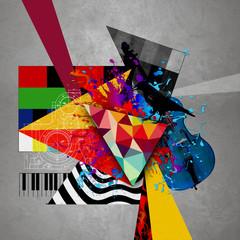 Obraz абстрактная обложка музыкального диска