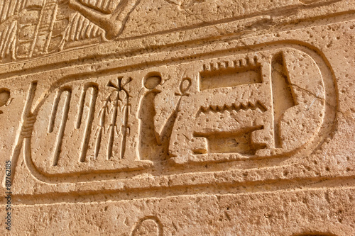 Photo  hieroglyphic Abu Simbel