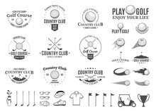 Golf Country Club Logo, Labels...