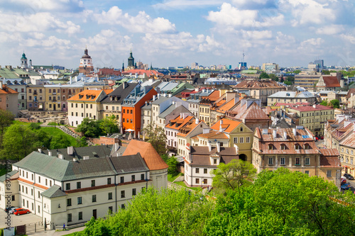 Obraz Panorama of old town in City of Lublin, Poland - fototapety do salonu