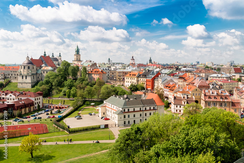 Fototapety, obrazy: Panorama of old town in City of Lublin, Poland