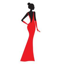 Fashion Model. Silhouette Of B...