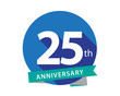 25 Anniversary Blue Circle Logo