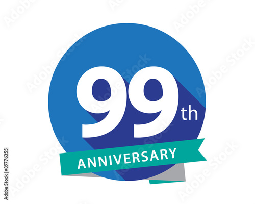 Photographie  99 Anniversary Blue Circle Logo