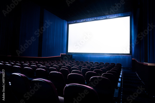Poster de jardin Opera, Theatre High contrast image of movie theater screen
