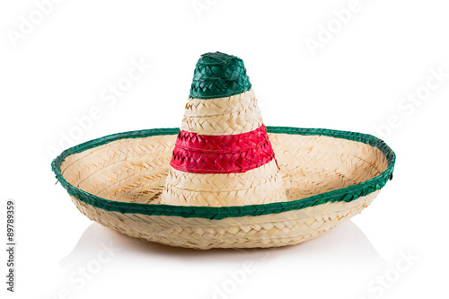 Fotografía  Mexican hat / sombrero isolated on white