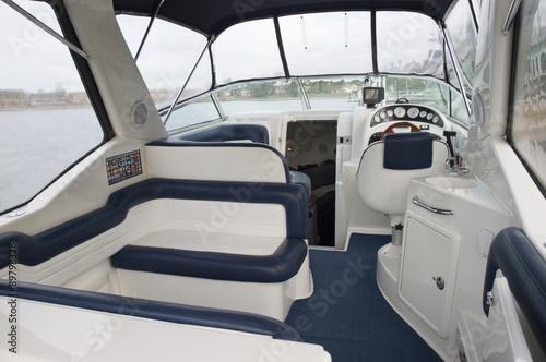 Obraz na płótnie Interior of a motor boat