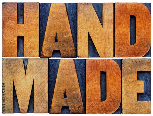 Fotografie, Obraz  handmade word abstract in wood type