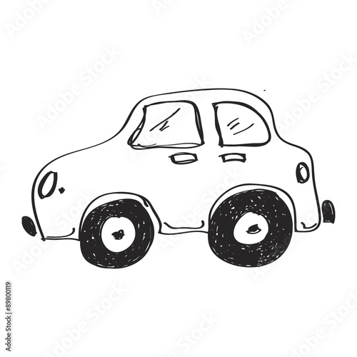 Photo Stands Cartoon cars Simple doodle of a car