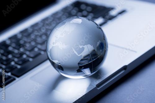 Fotografía  Global y concepto de negocio internacional