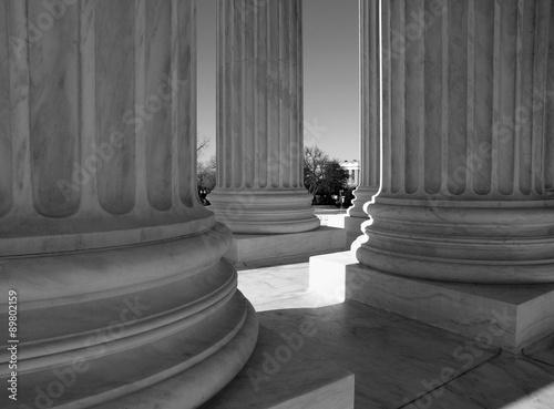 Photo  Supreme Court Columns Black and White