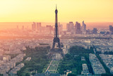 Fototapeta Eiffel Tower - The sunset at Paris city with Eiffel Tower in France