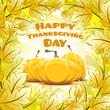 Leinwandbild Motiv Happy Thanksgiving Day card