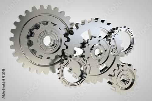 Photo  gears 3d model render