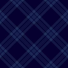 Dark Blue Tartan Diagonal Seam...