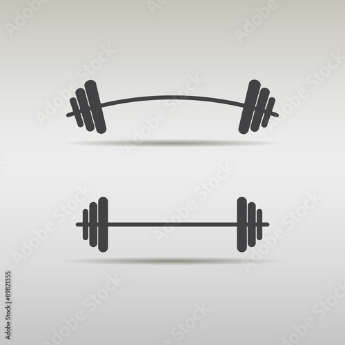 barbell icon Canvas Print
