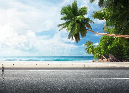 Wall mural - road on tropical beach