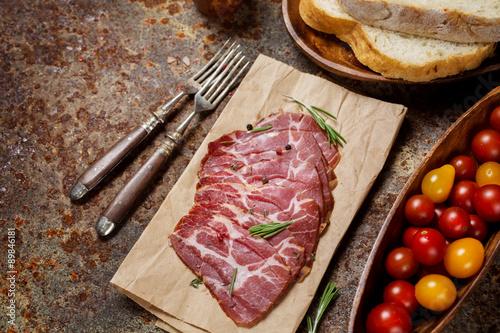 Garden Poster Steakhouse Sliced Ham